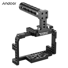 Andoer Protective Video Camera Cage Stabilizer Protector w/ Top Handle for Sony A7II A7RII A7SII A7S A7R A7 ILDC Mirrorless Camcorder Outdoorfree ^ - intl