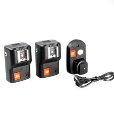 Andoer PT-04GY 4 Saluran Nirkabel Remote Speedlite Pemicu Flash Universal 1 Transmitter & 2 Receiver untuk Canon Nikon Pentax Olympus- internasional