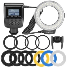 Andoer RF-550D Macro 48 LED Ring Flash Light LCD Display Power Control for Canon Nikon Pentax Olympus Panasonic Sony DSLR