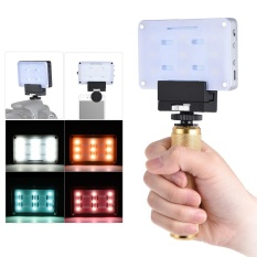 Andoer SHL-045 Mini Light On-Camera Video Light 5500K White 4.5W Dimmable Built-in USB Charging with Hot Shoe Mount/ Phone Clamp/ Hand Grip/ Strap/ 7 Filter for Canon Nikon Sony DSLR for iPhone X 8 7plus 7 6 - intl