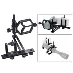 Andoer Universal Teleskop Metal Ponsel Digital Dudukan Kamera Rak Adaptor Smartphone Klip Penahan untuk Monokuler Teropong Lapangan Mikroskop Lensa Telefoto untuk iPhone 7 Plus/7/6 S /6 Plus-Intl