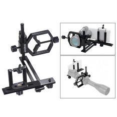 Andoer Mount Adaptor Kamera Universal Teleskop HP Kamera Digital Penyangga klip Smartphone Untuk Lensa Monocular Mikroskop untuk iPhone 7Plus/ 7/ 6s/ 6Plus Bisa Dipakai Outdoor