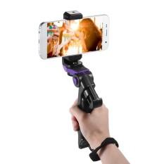 Andoer Universal Mini tripod Ponsel Stand Handheld Penstabil Genggaman dengan Bisa Disesuaikan Smartphone Pegangan Klip Bracket untuk IPhone 7 Plus/7/6 /6 Plus/6 S/untuk Samsung Galaxy S7/S6-Intl