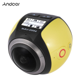 Iklan Andoer V1 360 Derajat Panorama Kamera Wifi 2448 P 30Fps 16 M Kacamata Cembung For Tampilan Virtual Sumber Film Aksi Kegiatan Luar Ruangan Olahraga Mobil Dvr Kamera Camcorder