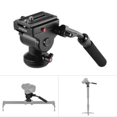 Andoer Video Camera Tripod Action Fluid Drag Pan Head Hydraulic Panoramic Photographic Head for Canon Nikon Sony DSLR Camera Camcorder Shooting Filming - intl
