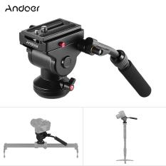 Andoer Tripod Kamera Video Aksi Cairan Hidrolik Penahan Panci Kepala For Panorama Fotografi Canon Nikon Sony DSLR Kamera Camcorder Syuting Film-International