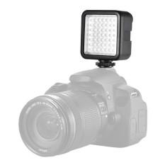 Andoer W49 Mini Interlock Panel Kamera Digital Lampu Dimmable Kamera Perekam Video Pencahayaan dengan Sepatu Penyambung Adaptor untuk Perkakas Bertualang A7 DSLR-Internasional
