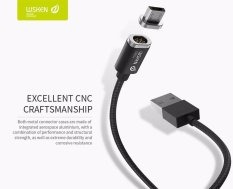 Harga Android Wsken Mini 2 Magnetic Micro Usb Charger Magnet Kabel Dengan Status Led Display Untuk Android Data Charging Adapter Hitam Intl Satu Set