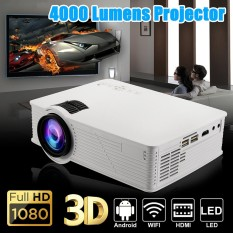 Android4.4 WIFI 1080 P Portable HD LED Proyektor 5000 Lumen Proyektor Home Theater-Intl