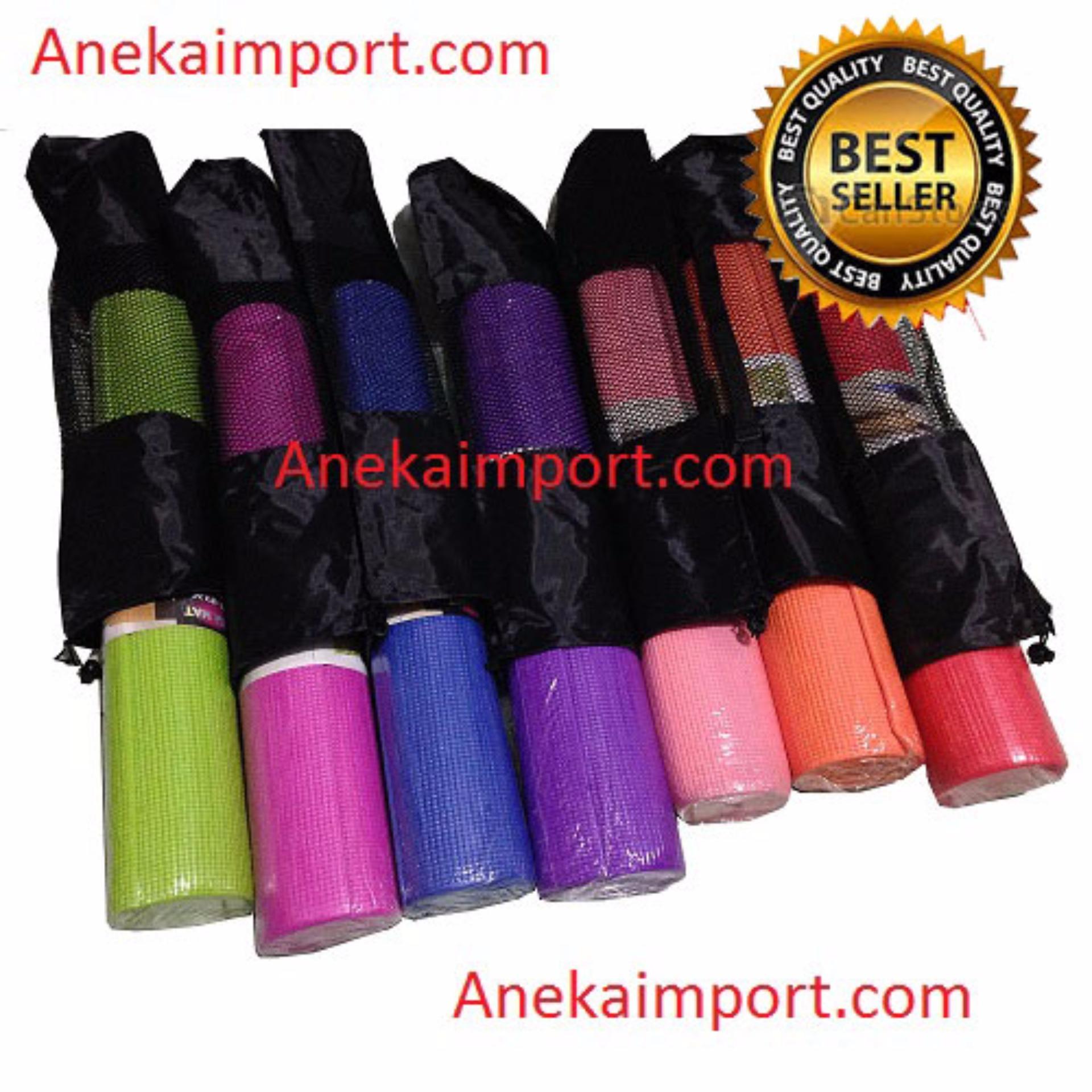 Spesifikasi Anekaimportdotcom Matras Yoga Yoga Mat Pilates Mat Pink Gratis Yoga Bag Bagus