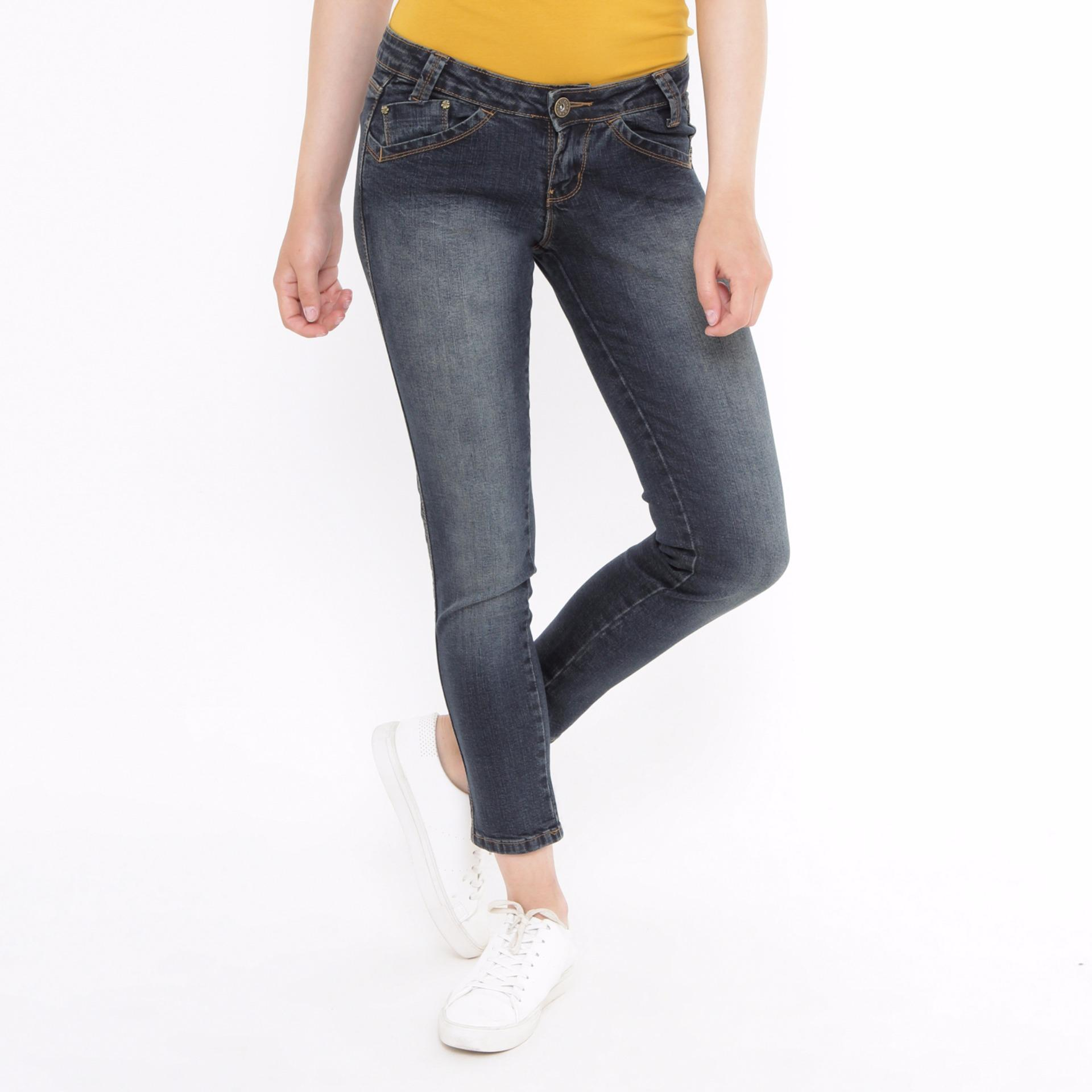 Jual Angel Cut Long Pants Jeans Denim Mobile Power Ladies J2678S Di Bawah Harga