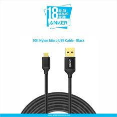 Jual Anker 10Ft Nylon Micro Usb Cable Anker Branded