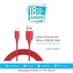 Harga Termurah Anker Kabel Powerline 6Ft 1 8M Micro Usb A8133H