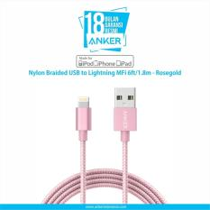 Review Terbaik Anker Nylon Braided Usb To Lightning Mfi 6Ft 1 8M Rosegold
