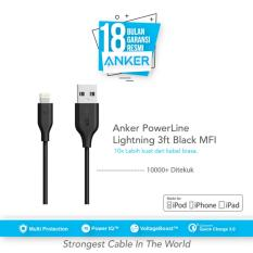 Beli Anker Powerline Lightning Mfi Certified Cable 3Ft 9M Hitam