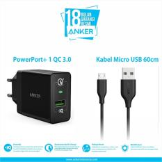 Tips Beli Anker Powerport 1 Quick Charge 3 Micro Usb 3Ft Hitam Yang Bagus
