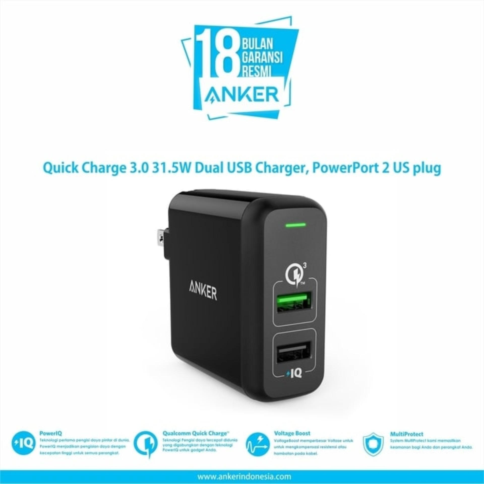 Mobile Accessories Anker 5 Pack Powerline Micro Usb 1ft 3ft 6ft 10ft B8132018 Wall Charger Powerport 2 Quick Charge 30 Hitam A2024j11