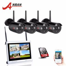 Beli Anran 4Ch Cctv System Wireless 720P 12 Inch Nvr Security Camera System 4Pcs 1Mp Ir Outdoor P2P Wifi Ip Camera Surveillance Kit Intl Murah Di Tiongkok