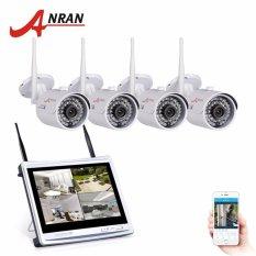 Ulasan Anran 4Ch Wifi Cctv Sistem 12 Lcd Nvr Kit P2P 720 P Hd Ir Malam Visi Ip Camera Outdoor Keamanan Kamera Intl