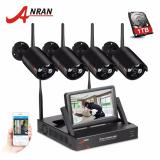 Spesifikasi Anran 4Ch Wireless Nvr Video Surveillance System 7Inch Lcd 720 P Hd Outdoor Waterproof Wifi Keamanan Kamera Hitam Intl Dan Harga