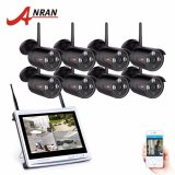 Jual Anran 8Ch Wifi Video Surveillance Kit 12 Lcd Layar Amp P2P 720 P Ahd Tahan Air 3Array Ir Nirkabel Kamera Cctv Sistem Branded