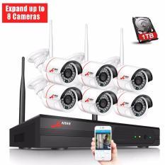 Anran 8Ch Wireless Nvr Surveillance System 1 Tb Hdd P2P 720 P Hd Ir Outdoor Cctv Wifi Ip Kamera Keamanan Sistem Intl Anran Diskon 40