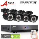 Jual Anran Ar K04A 204Gb 4 Channel 1080N Ahd Dvr Video Surceillance System With 4X 720P Hd 24 Ir Led Outdoor Night Vision Security Cameras Satu Set