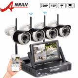 Harga Hemat Anran Plug And Play 4Ch Sistem Cctv Wireless 7 Inch Layar Lcd Nvr P2P 720 P Hd Ir Outdoor Bullet Wifi Ip Camera Surveillance Kit Intl