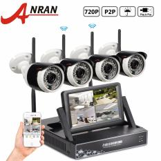 Ulasan Lengkap Tentang Anran Plug And Play 4Ch Sistem Cctv Wireless 7 Inch Layar Lcd Nvr P2P 720 P Hd Ir Outdoor Bullet Wifi Ip Camera Surveillance Kit Intl
