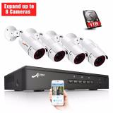 Beli Anran Poe Home Security Camera System 1080P Video Surveillance 8 Channel 1Tb Hard Drive 4 Outdoor Indoor Ip Cameras Baru