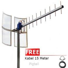 Jual Antena Yagi 75Dbi Modem Huawei E173S 1 High Extreme 4G Lte 3G Evdo Baru