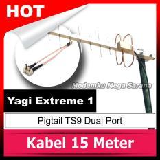 Antena Yagi Extreme 1 Pigtail Ts9 Dual Port By Modemku Mega Sarana.
