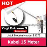 Cuci Gudang Antena Yagi Lte 4G Modem Huawei E3372 Extreme Iii Eco Gratis Pigtail Crc9 Dual Port Kabel 15 Meter