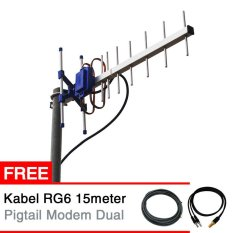 Tips Beli Antena Yagi Modem Smartfren Andromax M2P E5573 Dual Pigtail Yagi Txr145 Gratis Kabel Rg6 15 Meter Pigtail Modem