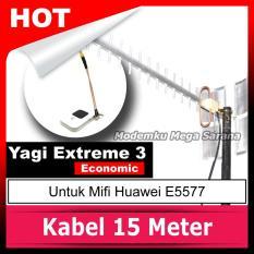 Antena Yagi Penguat Sinyal Mifi Huawei E5577 Extreme 3 Eco TS9 Dual Port