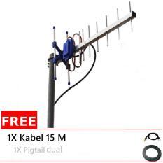 Dapatkan Segera Antena Yagi Trx 145 Kabel 15 Meter Pigtail Dual Untuk Modem Xl Go Huawei E5577