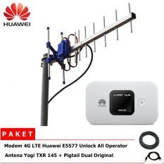 Jual Antena Yagi Txr 145 Penguat Sinyal Modem 4G Huawei E5577 Unlock Lengkap