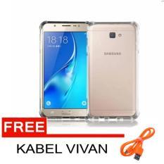 Anti Crack Case / Anti Shock Case for Samsung Galaxy J5 Prime - Fuze / Fyber (Clear) + Free Kabel Data Vivan