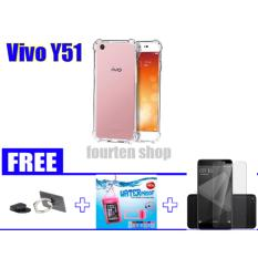 Anti Crack Casing for Vivo Y51 [Anti Shock] + FREE Ring Universal + Waterproof + Tempered Glass Y51