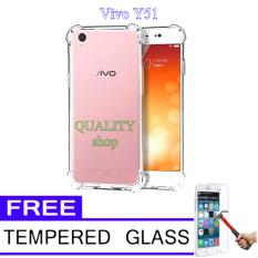 Anti Crack Casing for Vivo Y51 [Anti Shock] + Free Temperd Glass Vivo Y51