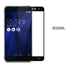 Anti Gores Kaca Asus Zenfone 3 ZE520KL 5.2inch Tempered Glass 2.5D Full Screen List Warna - Hitam