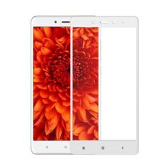 Anti Gores Kaca Full Layar 2.5D For Xiaomi Redmi Note 4X Tempered Glass List Warna - Putih