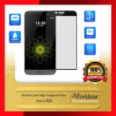 Anti Gores Kaca LG G5 Tempered Glass 3D Full Cover Edge List - Hitam