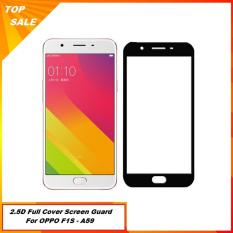 Anti Gores Kaca Oppo F1S (A59) Selfie Full Screen / Full Cover - Hitam