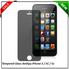 Harga Anti Gores Screen Guard Tempered Glass Spy Iphone 5 5C 5S 5G Gelap Spy Tempered Glass Original