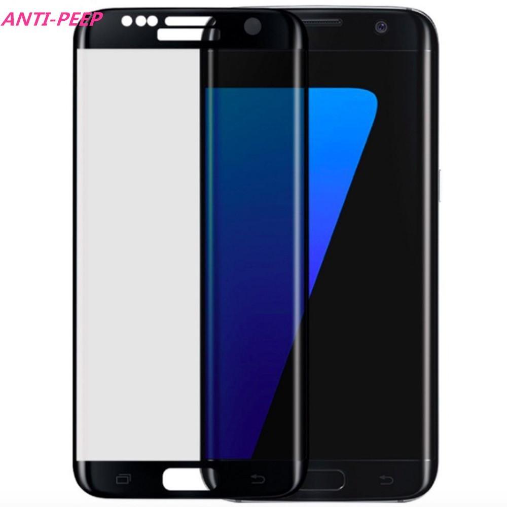 Harga Anti Peep Privacy Protection Film Liputan Penuh Ultra Thin Tempered Glass Screen Protector Untuk Samsung S7 Edge Terbaik