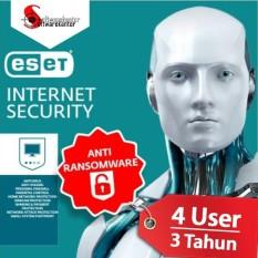 Antivirus ESET Internet Security - 4 Komputer 3 Tahun