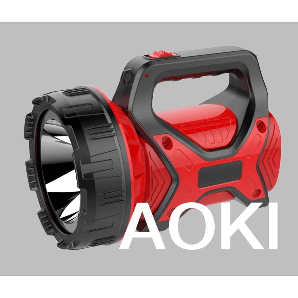 Jual Aoki Premium Ak 6671 Senter Led Jumbo 15 Watt Super Terang Merah Branded Murah