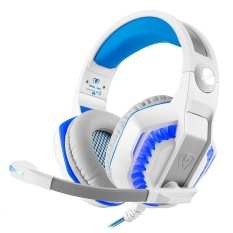 Aoyou Kuat GM-2 Game Headset untuk PS4 Xbox Satu Laptop Buah Smartphone Tablet Ponsel (Putih + Biru) -Internasional