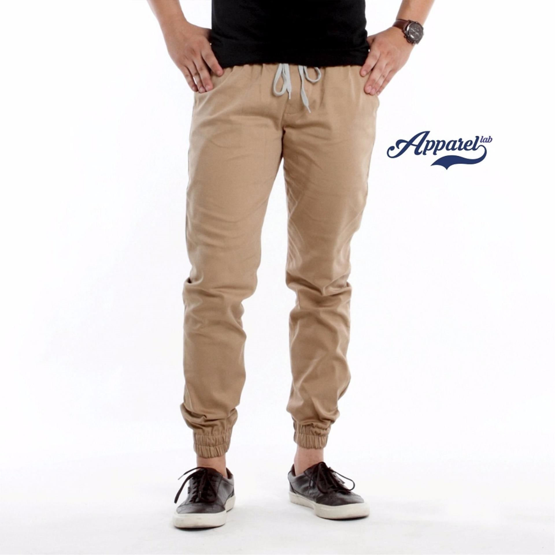 Promo Apparel Lab Jogger Basic Khaki Apparel Lab Terbaru